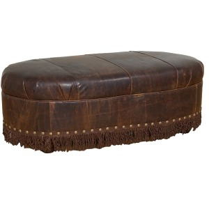 Cosmopolitan Leather Ottoman