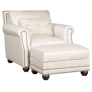 Julianna Fabric Chair & Ottoman
