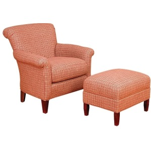 Francis Fabric Chair & Ottoman