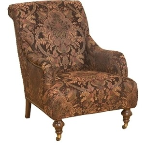 Gina Fabric Chair & Ottoman