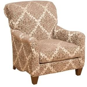 Glenda Fabric Chair & Ottoman