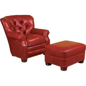 Oscar Leather Ottoman