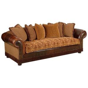 Shonnard Leather/Fabric Sofa