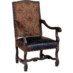 William Leather/Fabric Chair