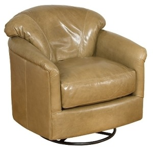 Zeuss Leather Swivel Glide Chair