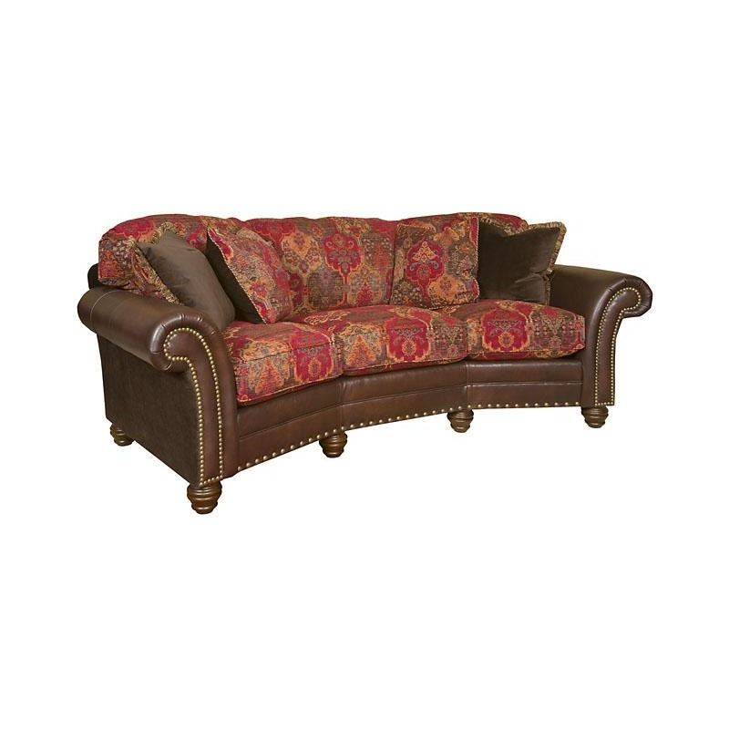 Katherine Leather/Fabric Conversation Sofa by Hickory Manor ...