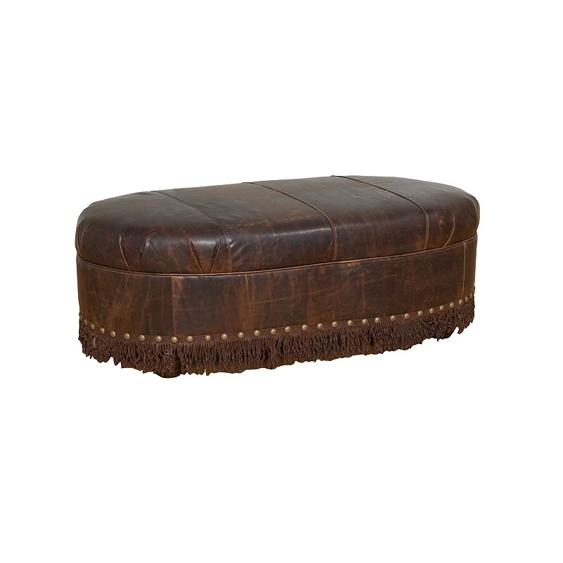 Pleasant Cosmopolitan Leather Ottoman By Hickory Manor 68 L Ncnpc Chair Design For Home Ncnpcorg