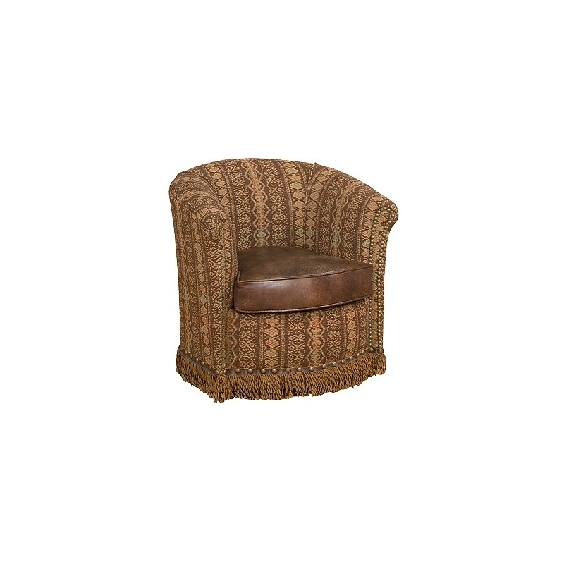 Wonder Leather/Fabric Swivel Chair