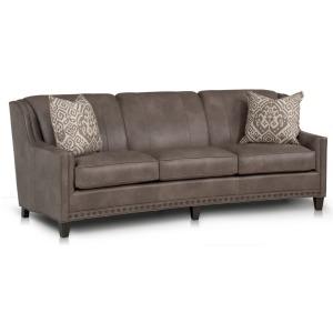 Willamette Crescent Leather Sofa
