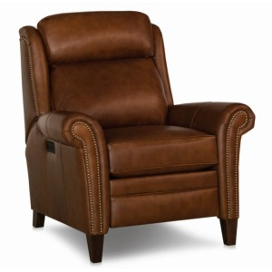 Griffin Leather Motorized Recliner w/Motorized Headrest