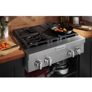 KitchenAid® 30'' 4-Burner Commercial-Style Gas Rangetop