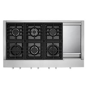 KitchenAid® 48'' 6-Burner Commercial-Style Gas Rangetop with Griddle