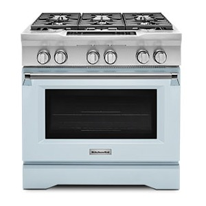 Limited Edition KitchenAid® 36'' 6-Burner Dual Fuel Freestanding Range, Commercial-Style