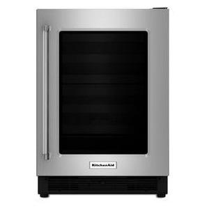 """24"""" Undercounter Refrigerator with Glass Door"""