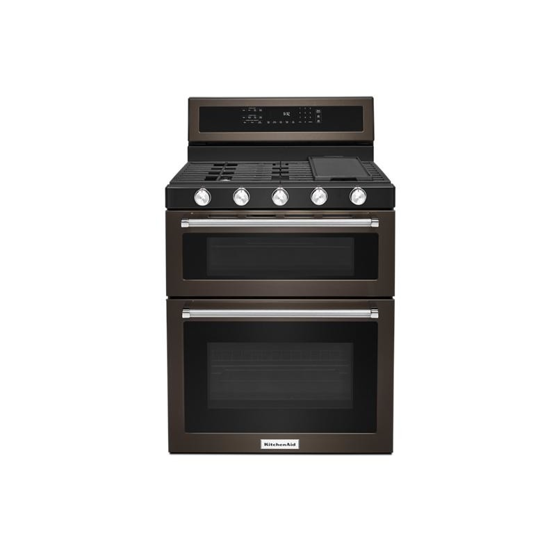 30-Inch 5 Burner Gas Double Oven Convection Range by ...
