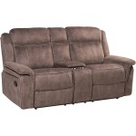 Kisner Reclining Loveseat w/Console - Lorenzo Brown