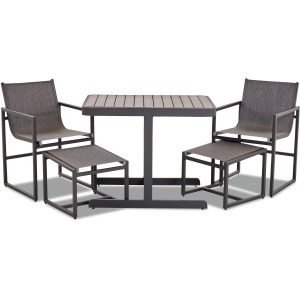5 PC Dining Set - Charcoal