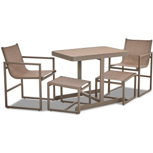 5 PC Dining Set - Champagne