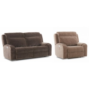 Merlin Power Reclining Sofa & Chair Set