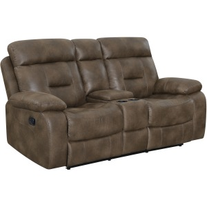 Cano Console Reclining Loveseat - Valor Taupe