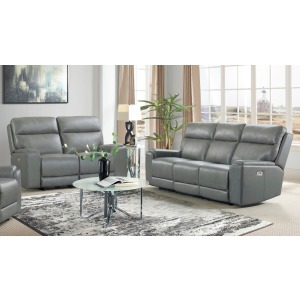 Santana Power Reclining Sofa & Loveseat Set