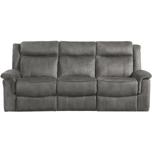 Kisner Reclining Sofa - Lorenzo Grey