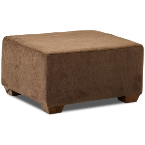 Sally Ottoman in Chocolate