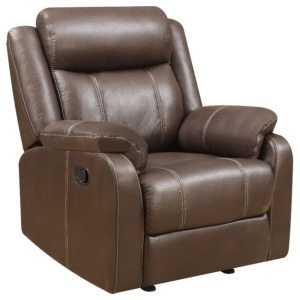 Domino Gliding Recliner Chair - Valor Chocolate