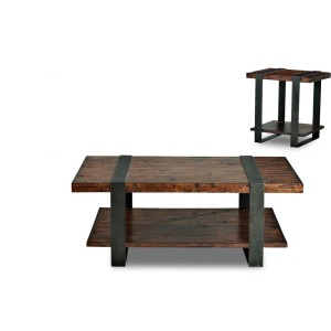 Timber Forge End & Cocktail Table Set