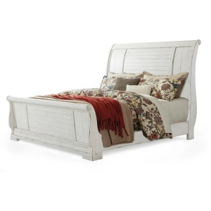 Coming Home King Sleigh Bed - Chalk