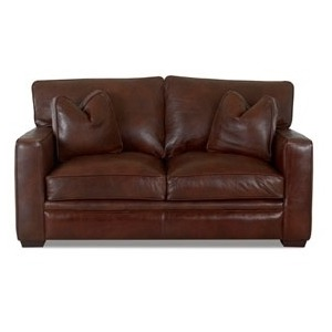 Homestead Leather Loveseat