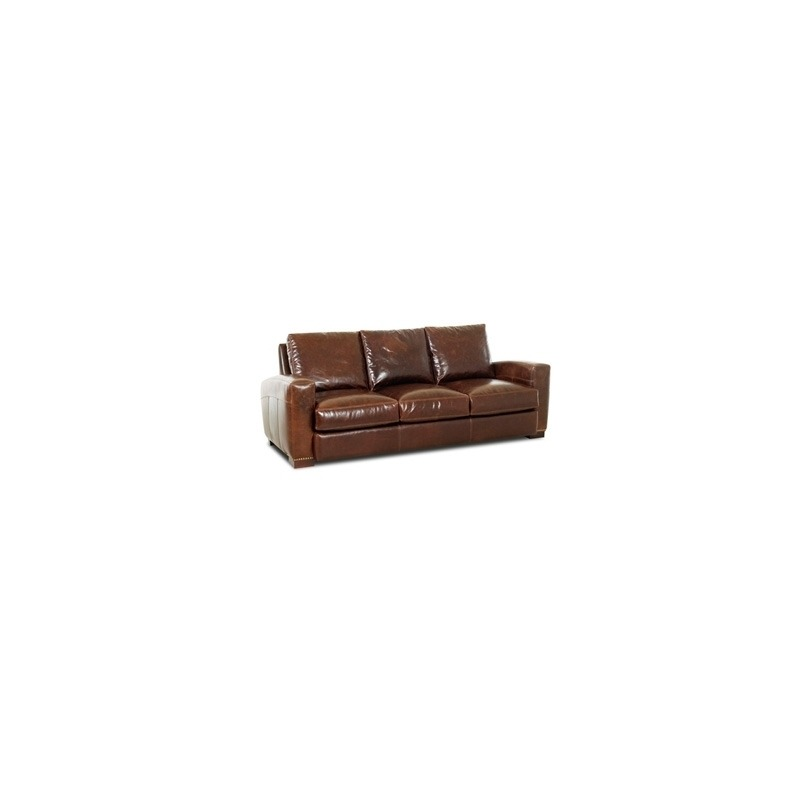 Homestead Leather Foam Queen Sleeper Sofa