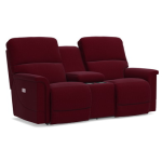 Oscar La-Z-Time PowerRecline with Power Headrest Full Reclining Loveseat W/ Middle Console