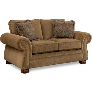 Pembroke Loveseat w/Brass Nail Head Trim