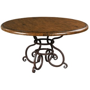 Artisans Shoppe 60in Round Dining Table W/ Metal Base - Tobacco