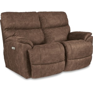Trouper Power Reclining Loveseat with Headrest