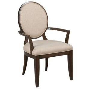 Grantham Hall Uph Arm Chair W/Decorative Back
