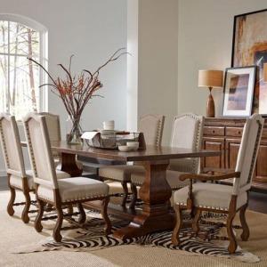 Artisans Shoppe 94in Rectangular Dining Table W/ Wood Base