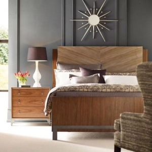 AD Modern Synergy Chevron Maple Cal King Bed
