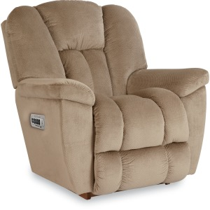 Maverick Power Rocking Recliner with Head Rest, Lumbar & Remote