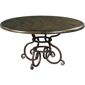 Artisans Shoppe 60in Round Dining Table W/ Metal Base