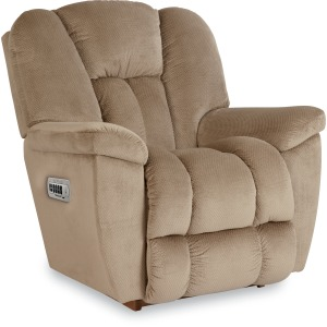 Maverick Power Rocking Recliner w/Head Rest & Lumbar