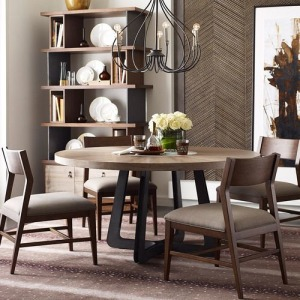 AD Modern Synergy Concentric Round Dining Table
