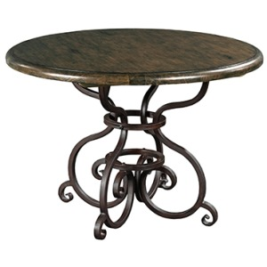 Artisans Shoppe 44in Round Dining Table W/ Metal Base