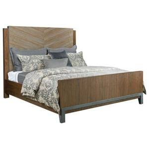 AD Modern Synergy Chevron Maple Queen Bed