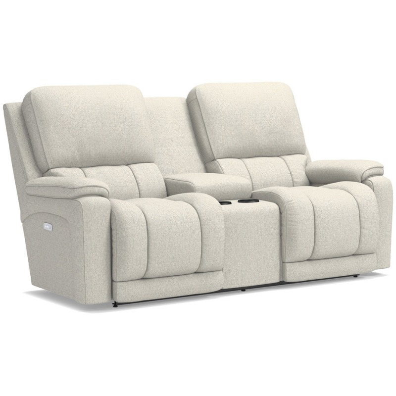 Peachy Greyson Power Reclining Loveseat W Console By La Z Boy Caraccident5 Cool Chair Designs And Ideas Caraccident5Info