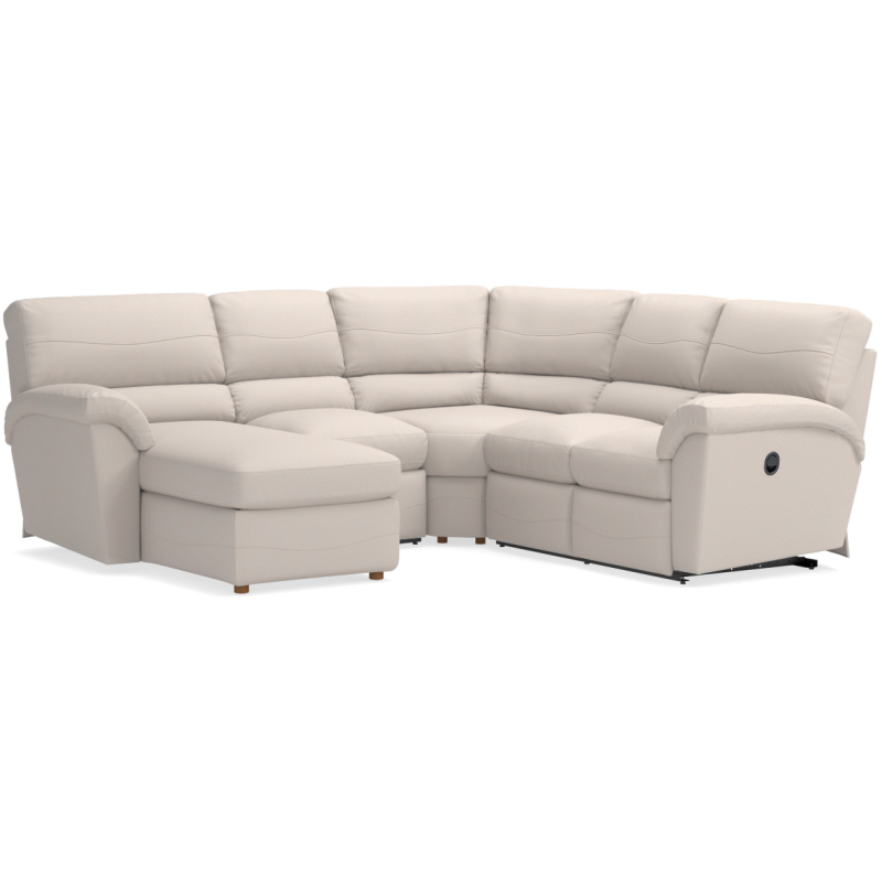 Incredible Reese Sectional By La Z Boy Furniture 366 Sectional Andrewgaddart Wooden Chair Designs For Living Room Andrewgaddartcom