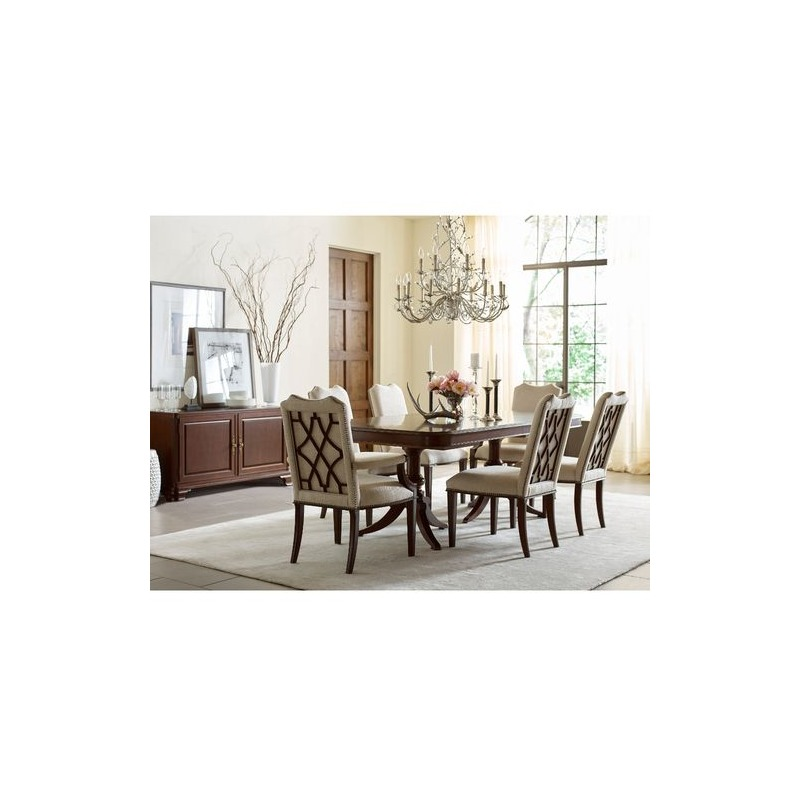 Hadleigh Double Pedestal Dining Table By La Z Boy Furniture Nis484564642 Riley S Furniture Mattress