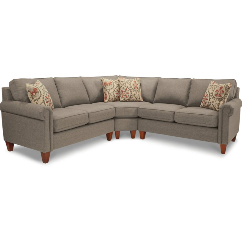 Sensational Leighton Sectional By La Z Boy Furniture 653 Sectional Lamtechconsult Wood Chair Design Ideas Lamtechconsultcom
