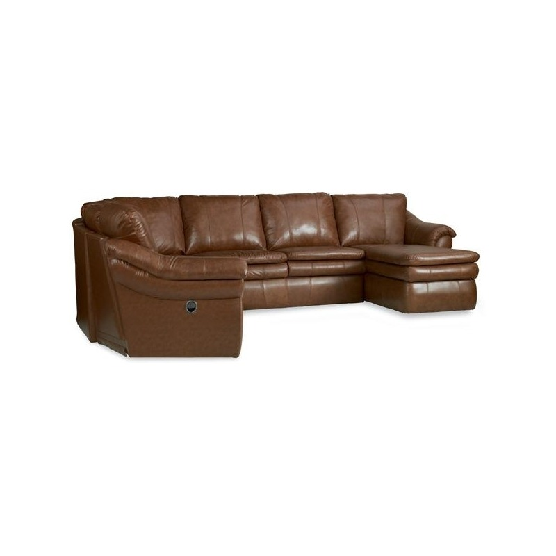 Stupendous Devon Leather Sectional By La Z Boy Furniture 40E 04C 04H Squirreltailoven Fun Painted Chair Ideas Images Squirreltailovenorg